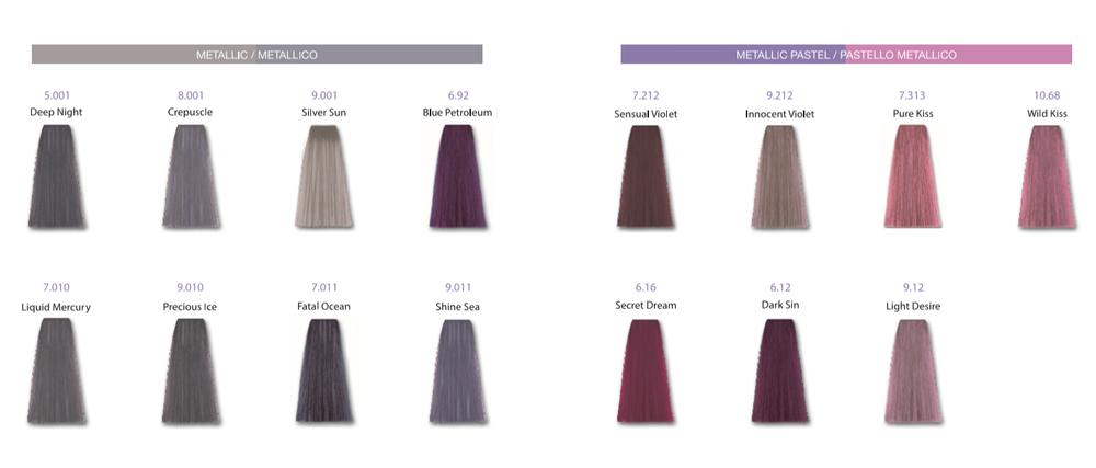 Metallum Haarverf kleurenkaart
